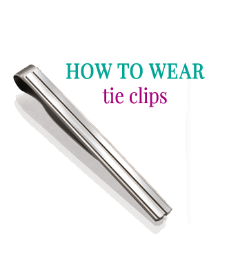 How to wear tie clips by Attire Club