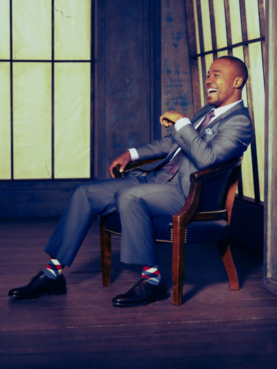 Adding a pop of color to an outfit (done the right way) will always make your look better. Here you can see how the tie and the socks really complete the look!