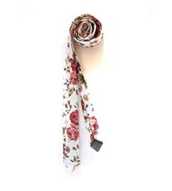 A floral tie