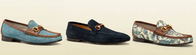 The horsebit loafer by Gucci is one of the most famous shoes. here you can see the denim version, the suede one and the canvas version.