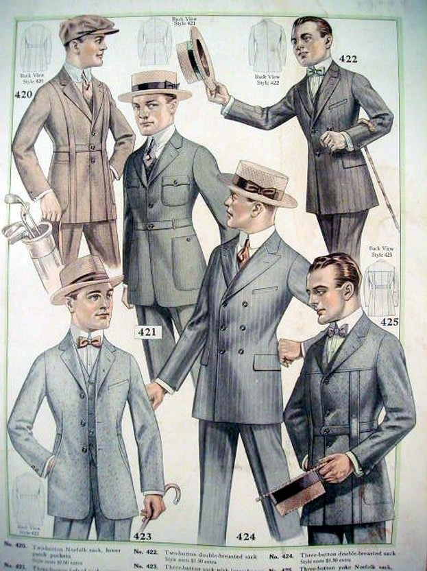 the history of the suit part i 1900s 1950s