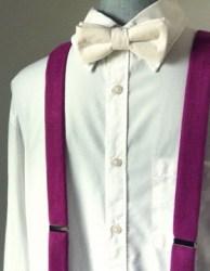 Purple wine linen suspenders