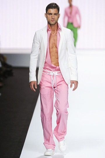 Pink on the runway