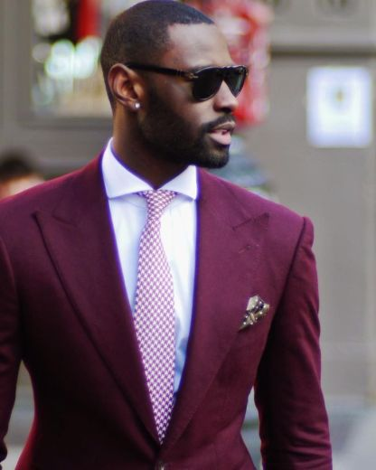 A creative but timeless men's look