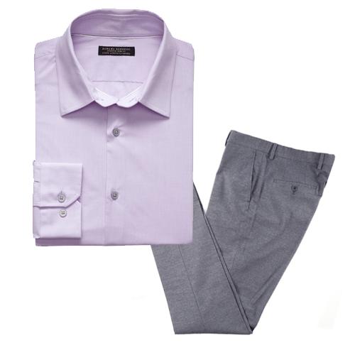 solid shirt and pants