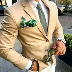 green-pocket-square
