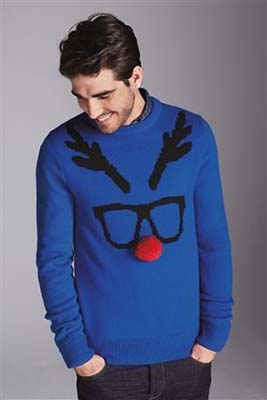 man-blue-christmas-sweater