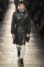 Leather is always amazing. Even when worn with rubber shoes.