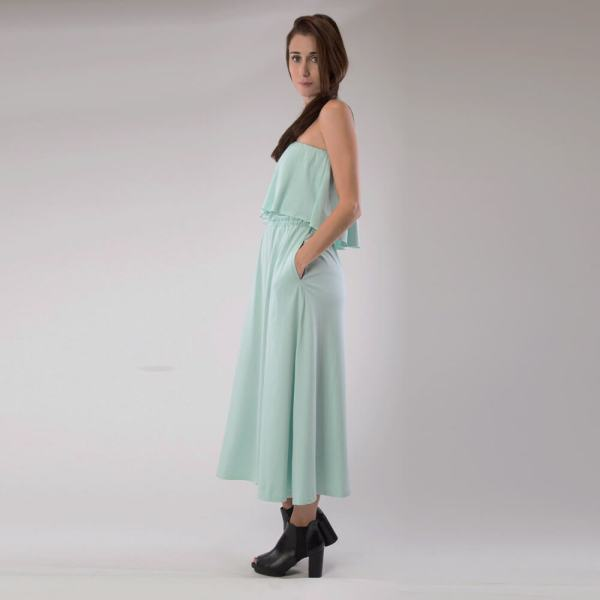Organic Cotton Maxi dress Side