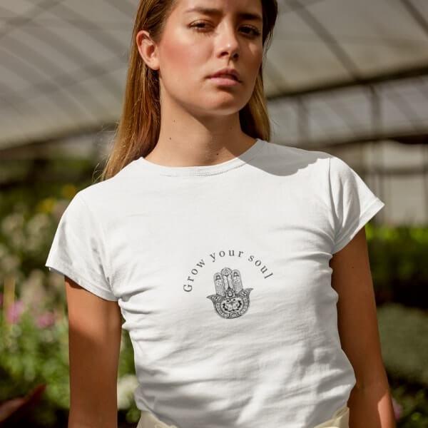 Grow Your Soul Organic Cotton T-shirt Attitude Organic-min