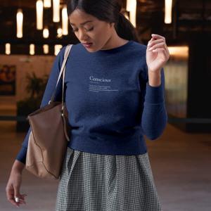 Conscious Organic Cotton Sweat Shirt Naby Blue