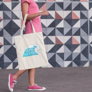 Natural Canvas Tote Bag Attitude Organic