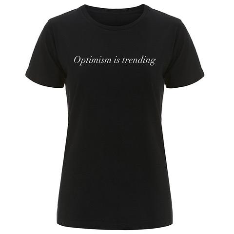 OPTIMISM IS TRENDING SLOGAN ORGANIC COTTON T-SHIRT – INCODE (BLACK)