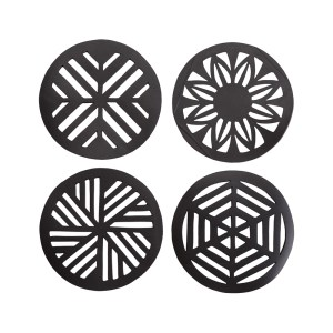 GEOMETRIC HANDCRAFTED RECYCLED RUBBER COASTER – PAGURO