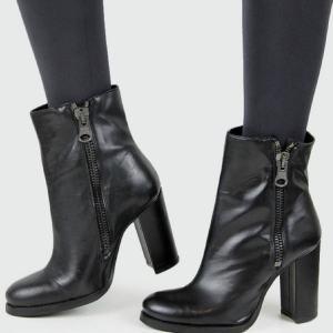 vegan high-heeled boots