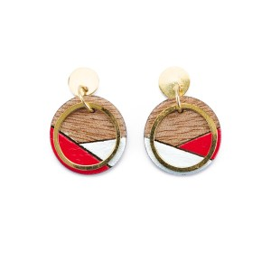 CONTURE ECO FRIENDLY AND HANDCRAFTED EARRINGS – PAGURO (RED & BLUE)