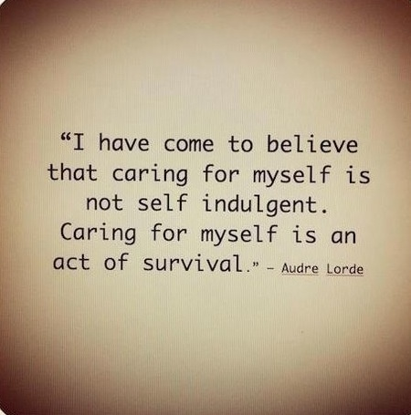 Caring for myself is not self-indulgent