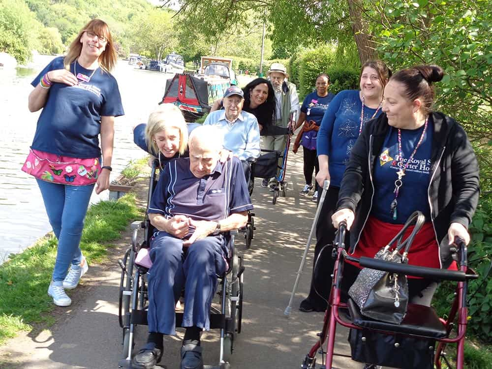 Residents from High Wycombe with staff during their Memory Walk image