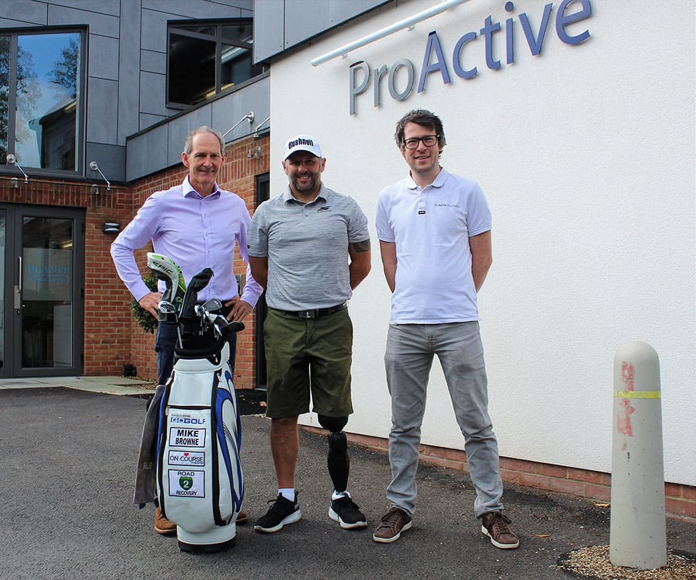 Michael Browne outside ProActive Prosthetics image