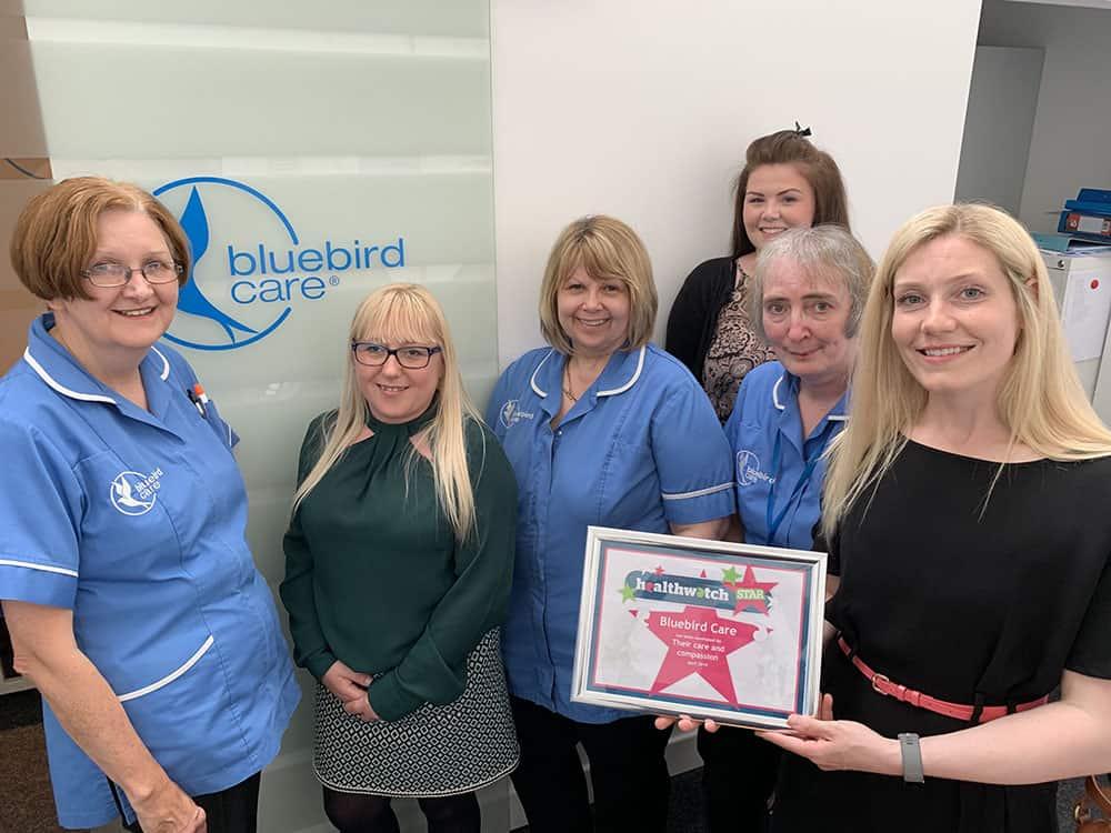 Bluebird Care Gateshead wins award from Healthwatch Gateshead image