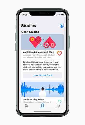 Apple health studies image