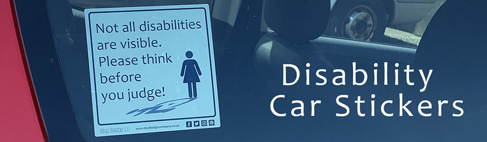 Blue Badge Co disability car sticker image