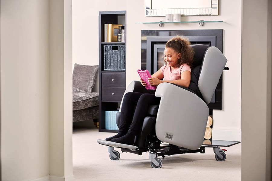 Yorkshire Care Equipment Little Lento chair and story image