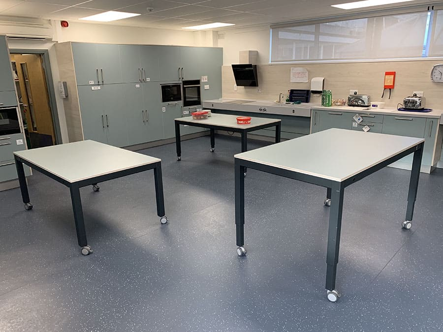 The new Food Technology room at the Victoria School & Specialist Arts College in Birmingham image