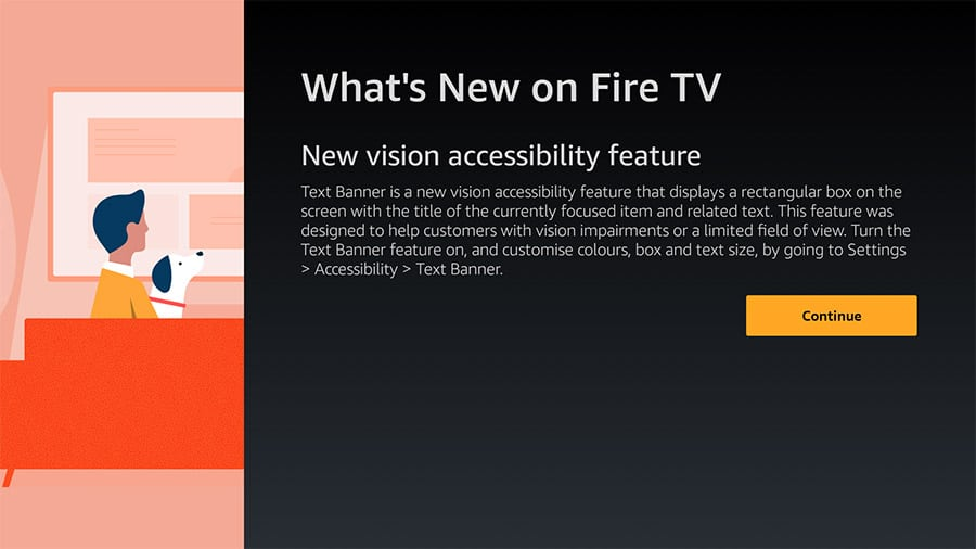 Amazon Text Banner for Fire TV image