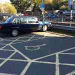 disabled car parking space image