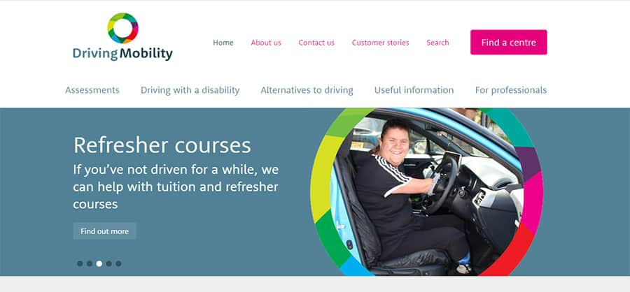 Driving Mobility new website image