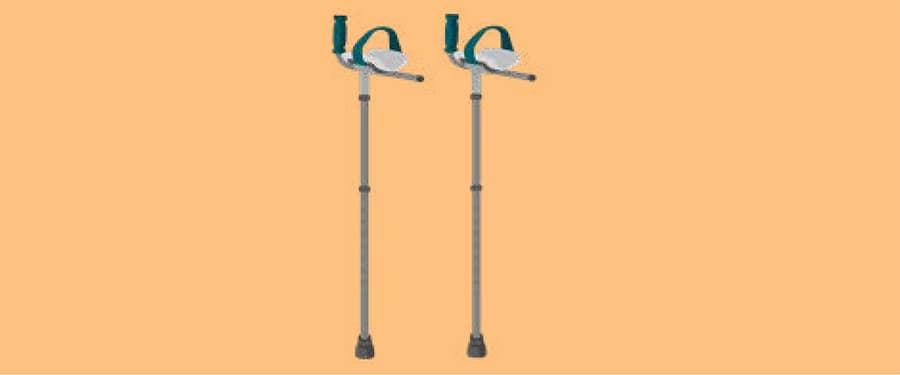Forearm crutches image