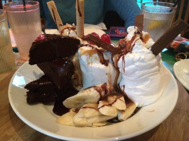 The Chocolate Hurricane at Jimmy Buffett's Margaritaville Orlando.