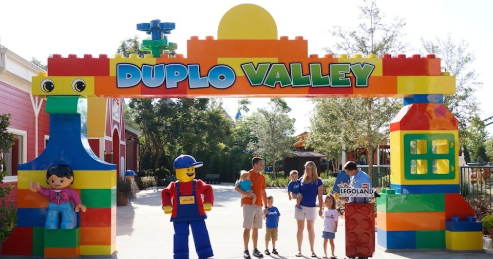 Legoland Florida duple valley entrance arch at opening