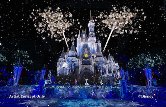 magic kingdom ice castle lighting Frozen elsa