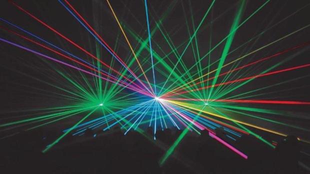 Orlando World Center Marriott laser light pool