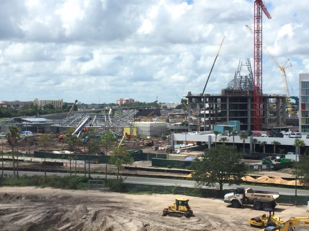 universal's volcano bay water theme park construction 2