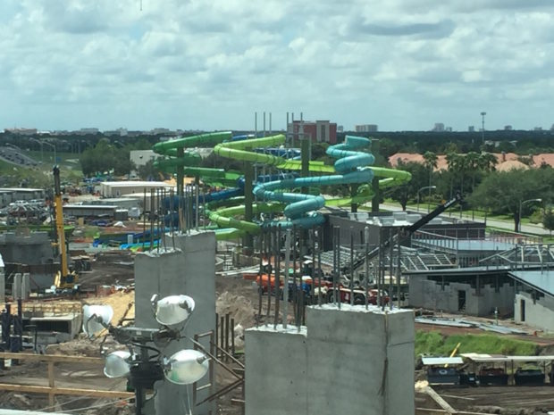 universal's volcano bay water theme park construction 5