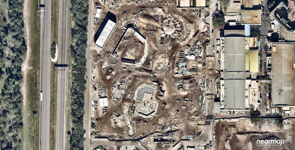 Star Wars Land aerial photos