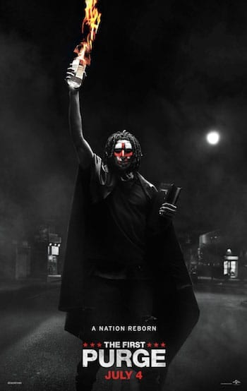The First Purge movie poster.