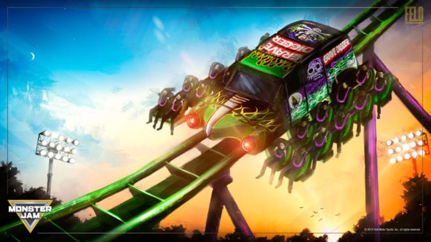 Feld Entertainment Grave Digger Freestyle Run Monster Jam roller coaster concept