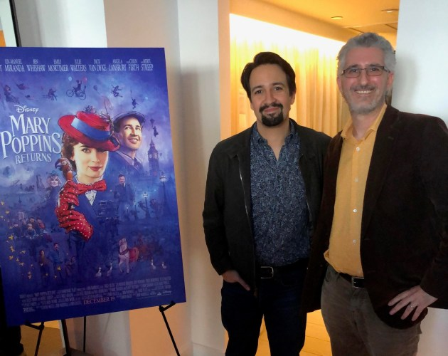 Lin-Manuel Miranda with Attractions Magazine reporter Seth Kubersky