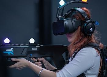 woman playing sol raiders
