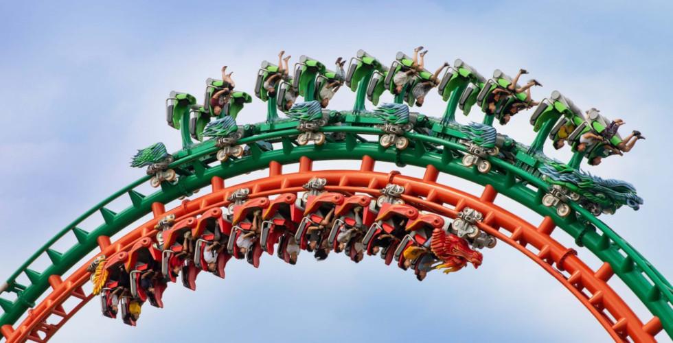 Intamin Dueling Dragons roller coaster China