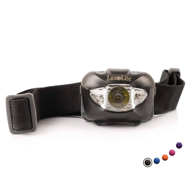 LED Headlamp Flashlight with Red Led Light