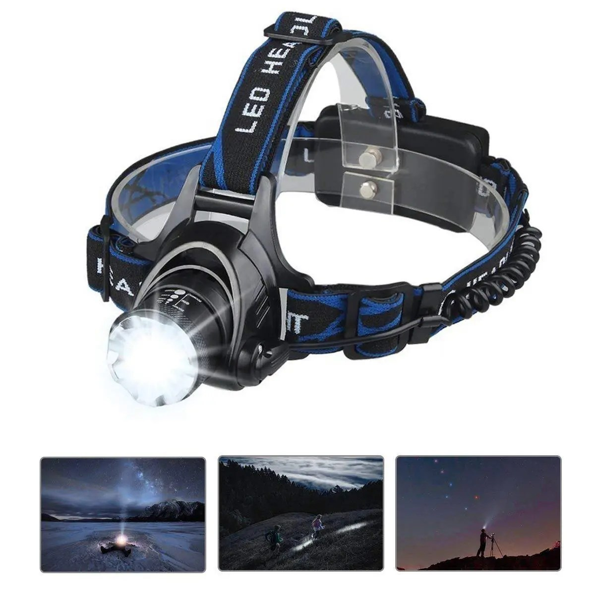Mifine Led Headlamp- 7 Modes Zoomable Super Bright LED