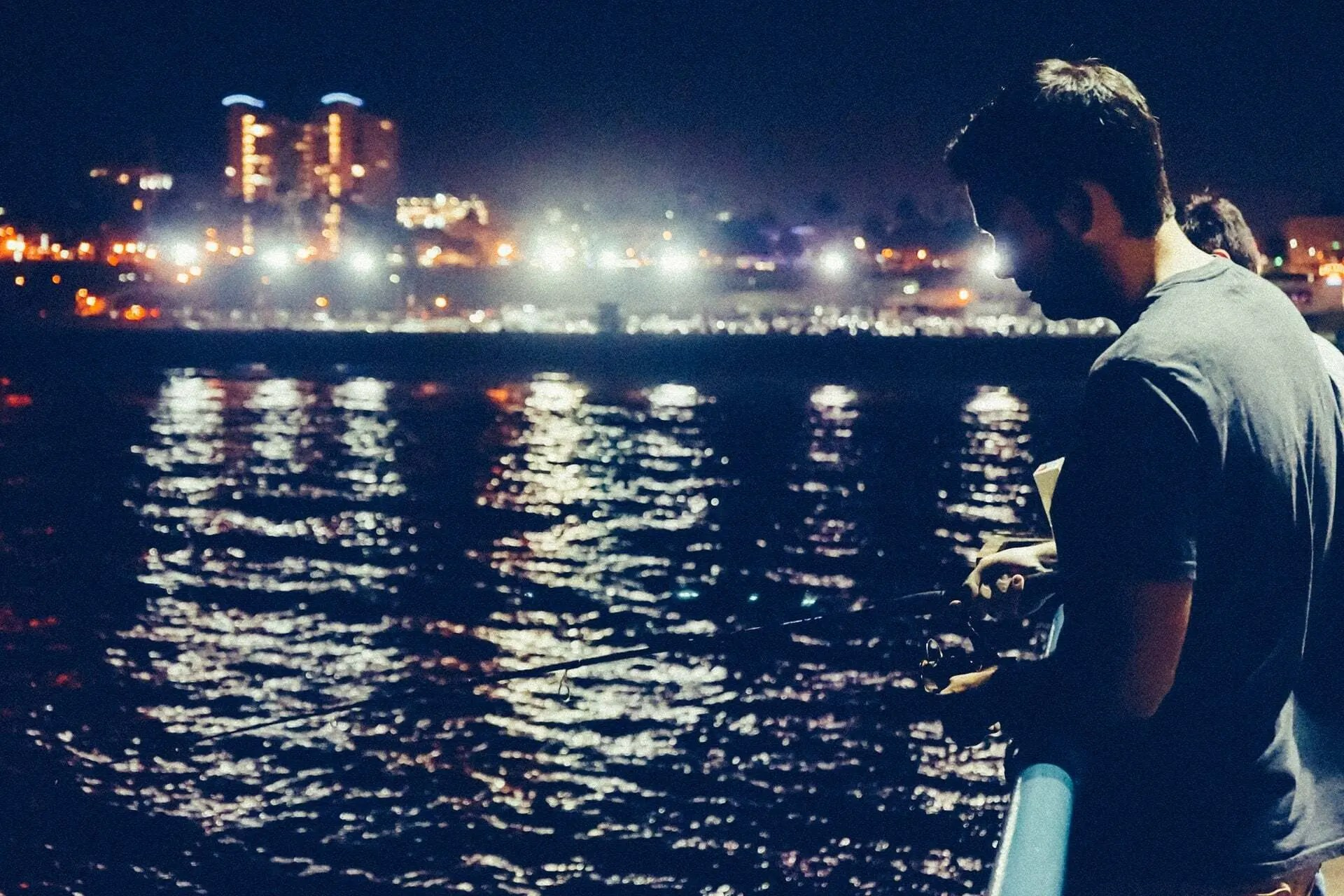 pier night fishing