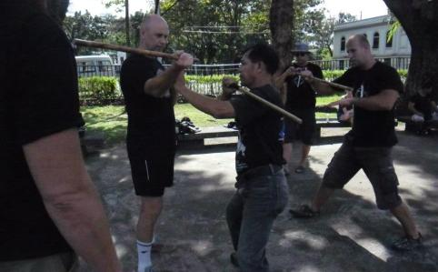 arnis in lagoon park in bacolod city