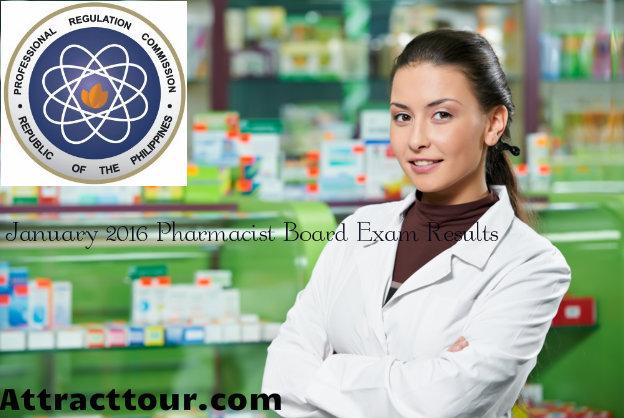 Pharmacist Board Exam Results Jan 2016