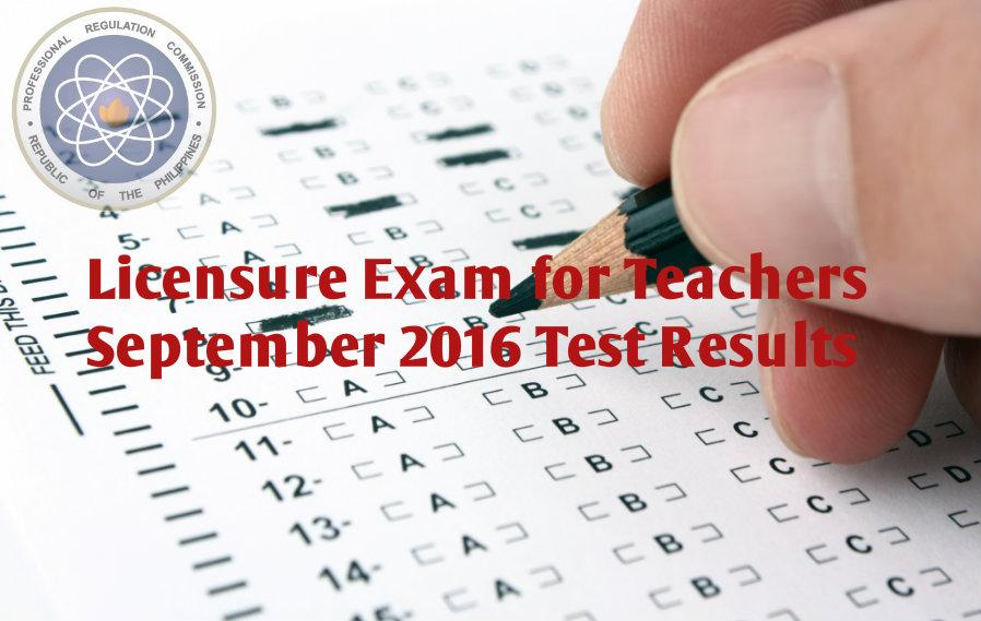September 2016 Teachers Board Exam Results